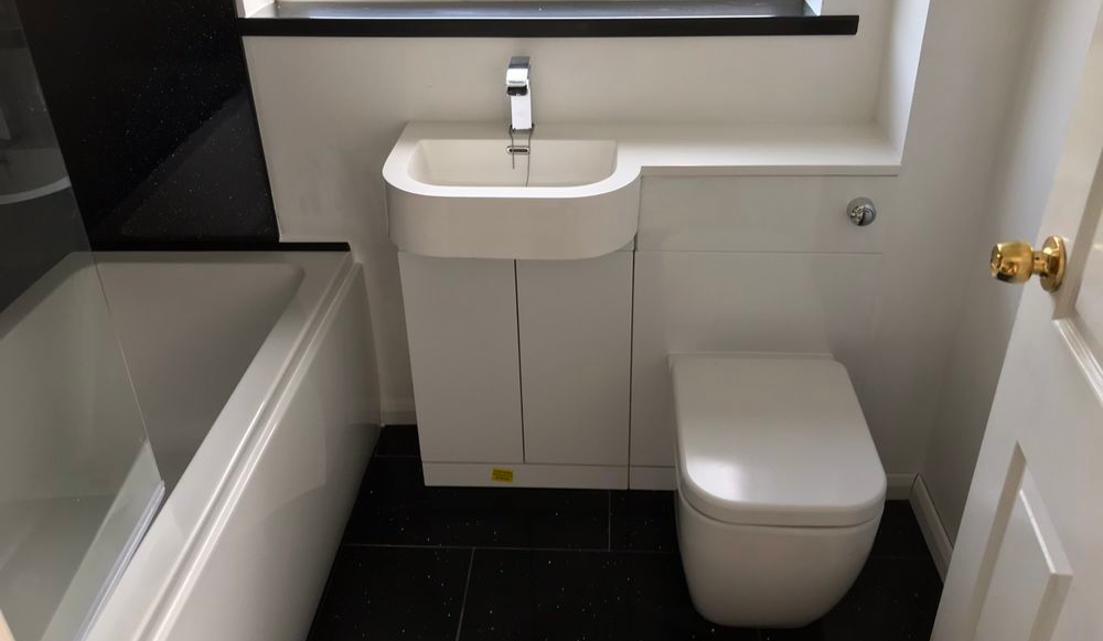 Example of bathroom installation