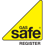 Gas Safe logo, qualified to install gas